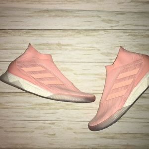 Adidas Boost Sneakers Peach Slip On Mens size 8.5